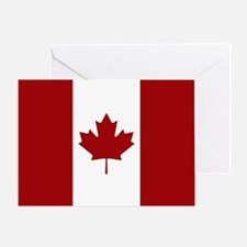 Canada: Canadian Flag (Red & White) Greeting Card