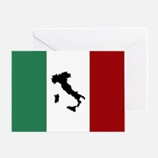 Italian Flag & Boot Greeting Card