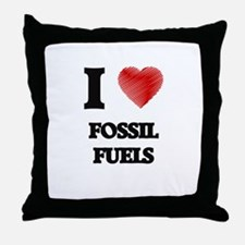 I love Fossil Fuels Throw Pillow