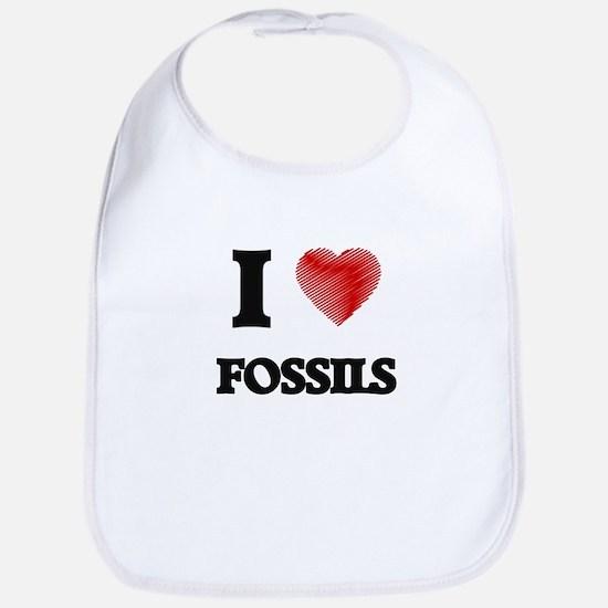 I love Fossils Bib