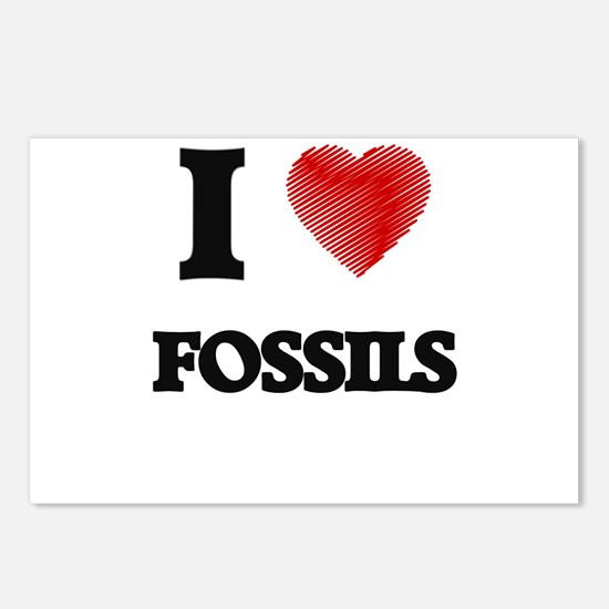 I love Fossils Postcards (Package of 8)