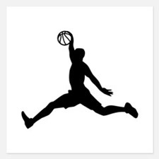 Basketball Player sports Invitations