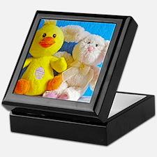 Happy Easter Chick + Bunny Keepsake Box