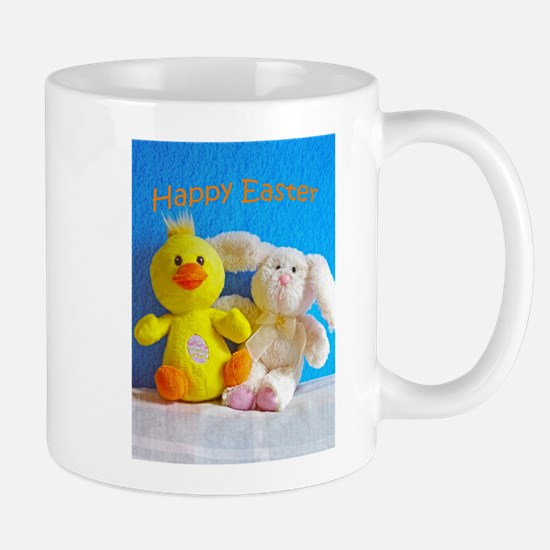 Happy Easter Chick + Bunny Mugs