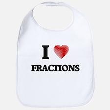 I love Fractions Bib