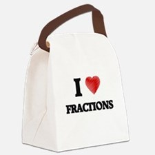I love Fractions Canvas Lunch Bag