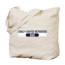 Curly-Coated Retriever Dad Tote Bag