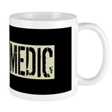 U.S. Military Medic: Black Backwards Fl Mug