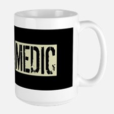 U.S. Military: Medic (Black Flag) Large Mug