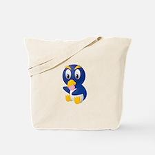 Angry bird cartoon with ball Tote Bag