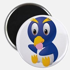 Angry bird cartoon with ball Magnets