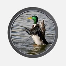 Mallard Drake Launching Wall Clock