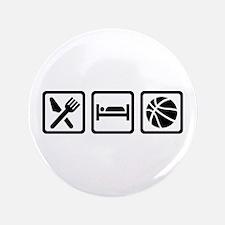 """Eat Sleep Basketball 3.5"""" Button (100 pack)"""