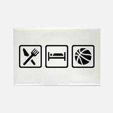 Eat Sleep Basketball Rectangle Magnet (100 pack)