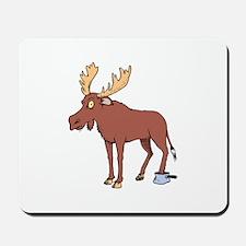 Moose Stuck in Pan Mousepad