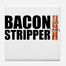 Bacon Stripper Tile Coaster