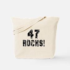 47 Rocks Birthday Designs Tote Bag