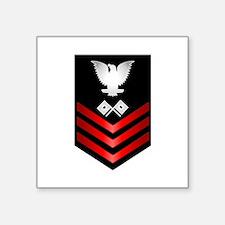 "Naval officer Square Sticker 3"" x 3"""