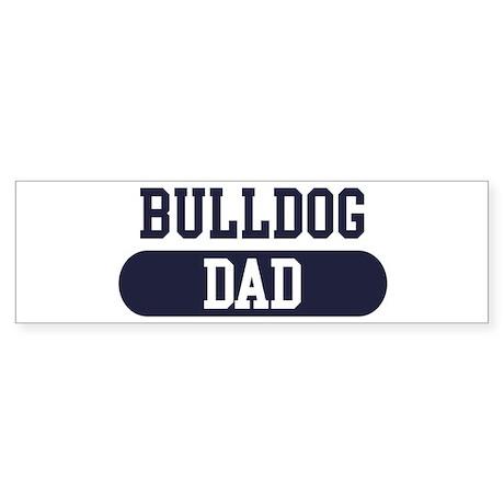 Bulldog Dad Bumper Sticker