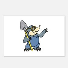 Mole with Shovel Postcards (Package of 8)