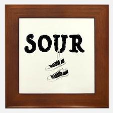 Sour Shoes Howard Stern Framed Tile