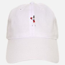 Ponytail lady with boxing gloves Baseball Baseball Cap