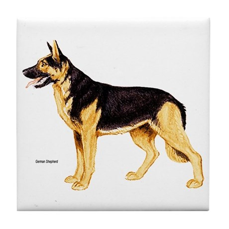 German Shepherd Dog Tile Coaster