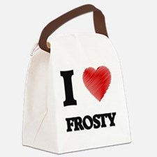 I love Frosty Canvas Lunch Bag