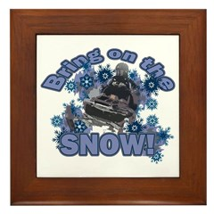 Bring On The Snow Framed Tile