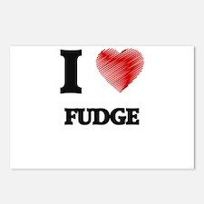 I love Fudge Postcards (Package of 8)