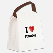 I love Funding Canvas Lunch Bag
