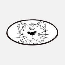 Cartoon Cat Face Outline Patch