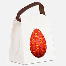 Artsy Easter Egg Canvas Lunch Bag