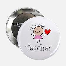 """Cute TEACHER 2.25"""" Button (10 pack)"""