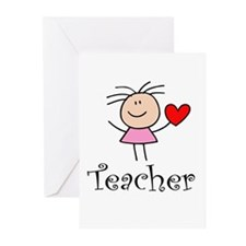 Cute TEACHER Greeting Cards (Pk of 20)