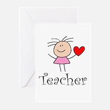 Cute TEACHER Greeting Cards (Pk of 20)