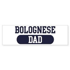 Bolognese Dad Bumper Car Sticker