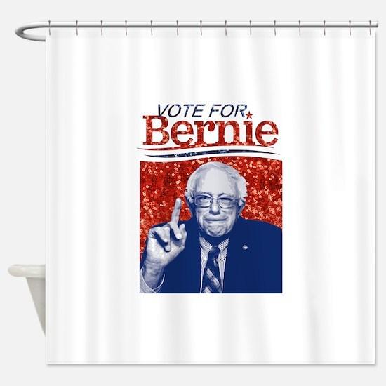 sequin vote for bernie sanders Shower Curtain