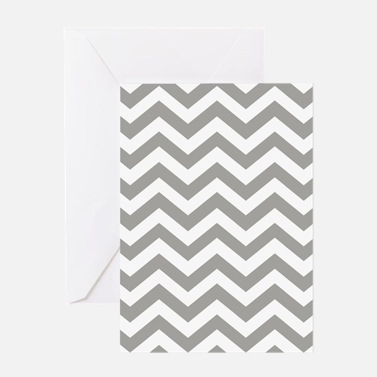 Grey, Fog: Chevron Pattern Greeting Card