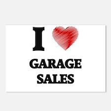 I love Garage Sales Postcards (Package of 8)
