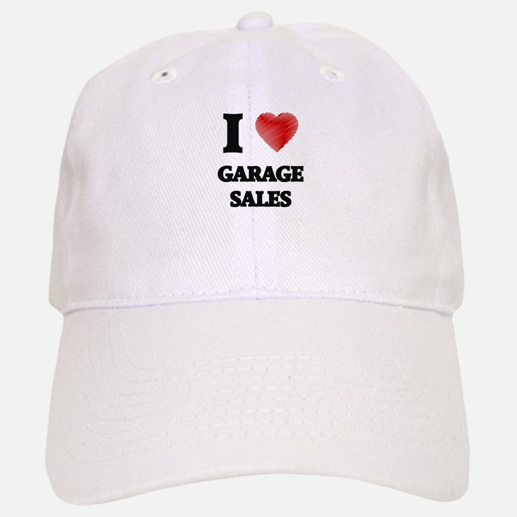 I love Garage Sales Baseball Baseball Cap