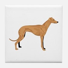 Grey hound Tile Coaster