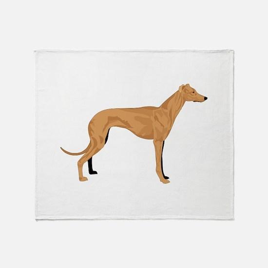 Grey hound Throw Blanket