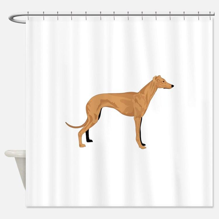 Grey hound Shower Curtain