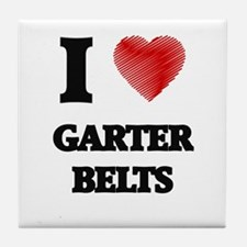 I love Garter Belts Tile Coaster