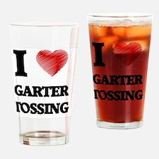 I love Garter Tossing Drinking Glass