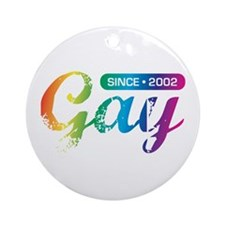 Gay Since 2002 Ornament (Round)