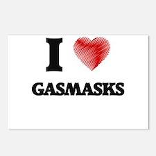 I love Gasmasks Postcards (Package of 8)
