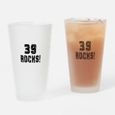 39 Rocks Birthday Designs Drinking Glass