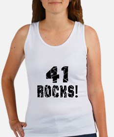 41 Rocks Birthday Designs Women's Tank Top